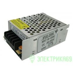 Ecola Блок питания для св/д лент 25W 220V-12V IP20 80х60х33 B2L025ESB