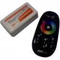 Контроллер для RGB лент, сенсорный-пульт (черн), 12V/18A или 24V/18A PRC-4000RF BL Jazzway .1019295