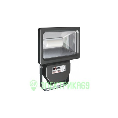 Navigator прожектор св/д  20W(1400lm) 4000 IP65 193x122x53 чер. NFL-P-20-4K-BL-IP65-LED 94613