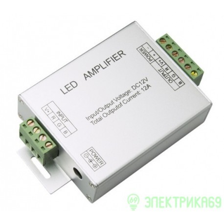 Ecola Усилитель для RGB ленты 12A 144W 12V AMP12AESB