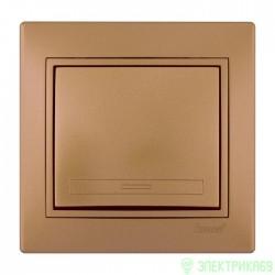 Lezard Мира выкл. СУ 1 кл. металлик золото 701-1313-100