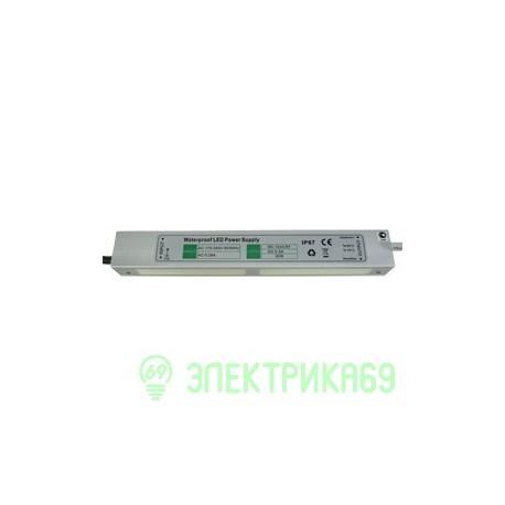 Ecola Блок питания для св/д лент 30W 220V-12V IP67 217х29х21 B7L030ESB