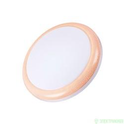 Volpe свет-к св/д накладной 18W(1400lm) 4500 пластик, d300mm, IP20 белый/розовый ULI-Q101 18W/NW