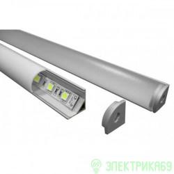Smartbuy св/д профиль накл.угловой+рассеив. 16x16мм алюм/поликарб.(цена за 2м)