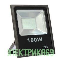 LEEK прожектор св/д 100W(7000lm) SMD 6500K 285x335x68 IP65 6K