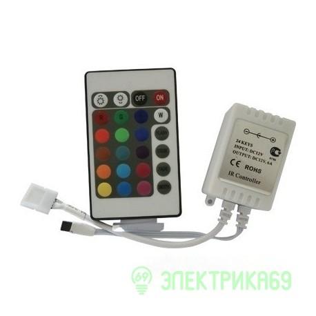 Ecola Контроллер 72W 12V 6A RGB c ИК пультом CRS072ESB