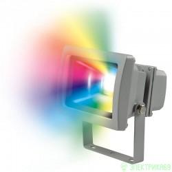 Uniel прожектор св/д RGB с пультом 10W(30-110lm 120°) ULF-S01-10W/RGB/RC IP65