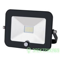 General прожектор св/д с датч.движ. 50W(4150lm) SMD 6500K 237x185x37 IP65 GTAB-50-IP65-6500-S 403700