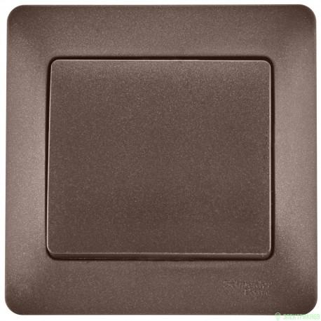 Schneider GLOSSA выкл. СУ 1 кл. шоколад (пласт. осн.) GSL000812