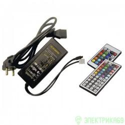 Ecola Контроллер 12V 72W 6A RGB моноблок с блоком питания с большим ИК пультом CRN072ESB