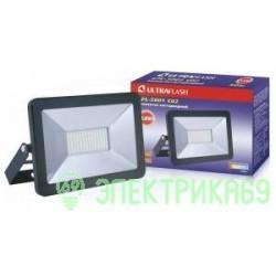 Ultraflash прожектор св/д LFL-5001 C02 50W(3200lm) SMD 6500K 6K 235x165x30 230V IP65