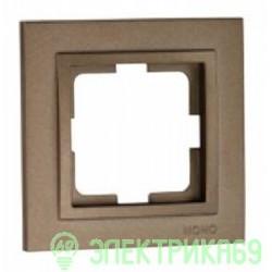 Mono DESPINA рамка СУ 1 мест. Бронза  102-230000-160