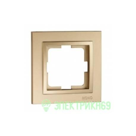 Mono DESPINA рамка СУ 1 мест. Титан  102-220000-160