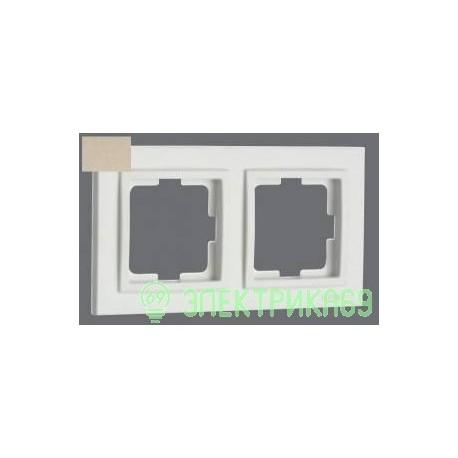 Mono DESPINA рамка СУ 2 мест. Титан 102-220000-161