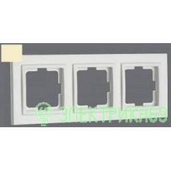 Mono DESPINA рамка СУ 3 мест. Крем 102-170000-162