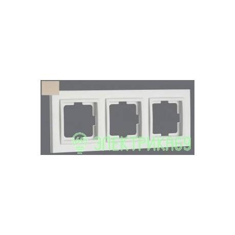 Mono DESPINA рамка СУ 3 мест. Титан 102-220000-162