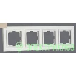 Mono DESPINA рамка СУ 4 мест. Титан 102-220000-163