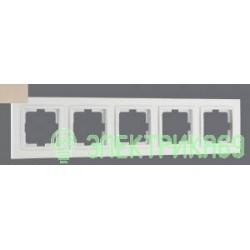 Mono DESPINA рамка СУ 5 мест. Титан 102-220000-164