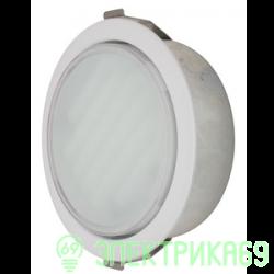 Ecola GX53-DL св-к встр. (для твер. пов. и мебели) Белый 28х93 FW53DLECC*