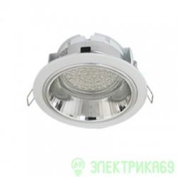 Ecola GX53-H2R св-к встр. с рефл. Белый 58x125 FW53H2ECB