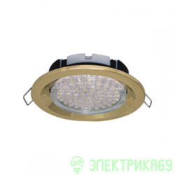 Ecola GX53-FT3225 св-к встр. глубокий легкий золото 27x109 FG5305ECB
