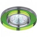 ЭРА DK7 CH/MIX св-к встр. 50W MR16 GU5.3 стекло круглое d95 зеркальн.мультиколор/хром
