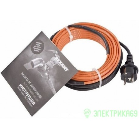 REXANT Греющий саморегулирующийся кабель (комплект в трубу) 10HTM2-CT ( 2м/20Вт), 51-0601