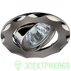 "ЭРА KL12A SN/N св-к встр. поворот. 50W MR16 GU5.3 ""звезда"" d88, сатин никель/никель"