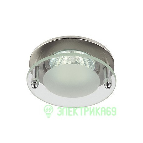 "ЭРА KL15 SN св-к встр. 50W MR16 GU5.3 ""с круглым стеклом"" d90, сатин"