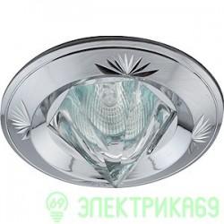"""ЭРА KL25 SCH св-к встр. 50W MR16 GU5.3 """"острый кристалл"""" d82, сатин хром"""