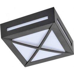 Ecola 3083W св-к матов.квадр.решет.металл.черный IP65 1*GX53 136х136х55 FB53SGECH