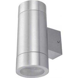 Ecola 8013A св-к прозр.цилиндр металл.сатин-хром IP65 2*GX53 205х140х90 FS53C2ECH