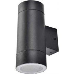 Ecola 8013A св-к прозр.цилиндр металл.черный IP65 2*GX53 205х140х90 FB53C2ECH