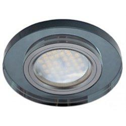 Ecola DL1650 MR16 GU5.3 св-к  Круг Стекло Черный/Черный хром 25x95 FB1650EFF