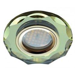 Ecola DL1653 MR16 GU5.3 св-к  Стекло с вогнутыми гранями Золото/Золото 25x90 FG1653EFF