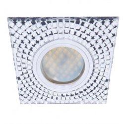 Ecola DL1658 MR16 GU5.3 св-к  Стекло прозр. мозаика зерк./хром 28x95 FC16SGECB