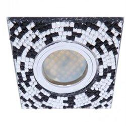 Ecola DL1658 MR16 GU5.3 св-к  Стекло прозр.-черной мозаикой зерк./хром 28x95 FU16SGECB