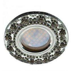 Ecola DL1660 MR16 GU5.3 св-к  Стекло Круг со стразами хром зеркало/Хром 28x93 FW16RNECB