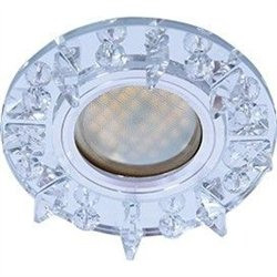 Ecola DL1661 MR16 GU5.3 св-к  Стекло Круг с крупными стразами зеркало/Хром 38x95 FK16RGECB