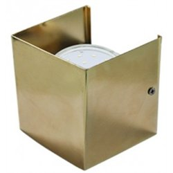 Ecola GX53-N51 св-к настенный бра 1xGX53 золото 100x100x90 (кратно 2!) FGN51FECB