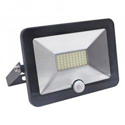 Ultraflash прожектор св/д с датч/движ. LFL-2001S C02 20W(1250lm) SMD 6500K 6K 150x110x30 230V IP65
