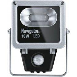 Navigator прожектор св/д  10W(600lm) 4000K 4K IP65 134х120х47 д/движ.серый NFL-M-10-4K-SNR-LED 71320
