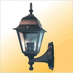 Camelion 4201 св-к уличный/садовый 'бра вверх' черный 60W E27 220V алюминий/стекло IP43
