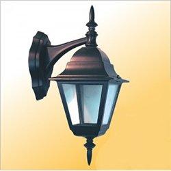 Camelion 4202 св-к уличный/садовый 'бра вниз' черный 60W E27 220V алюминий/стекло IP43