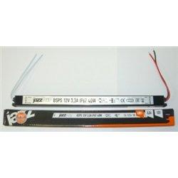 Jazzway Блок питания для св/д лент 12V 40W 3.3A IP67 307х20х20 (герм.) ZC-BSPS-12V3.3A .3329266A
