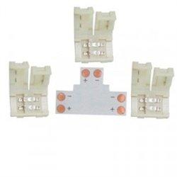 Ecola Комплект соед плата T для зажим разъема + 3 зажима 2-х конт. SMD5050 SC21UTESB