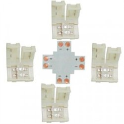 Ecola Комплект соед плата X для зажим разъема + 4 зажима 2-х конт. SMD3528 SC28UXESB