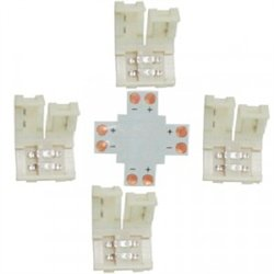 Ecola Комплект соед плата X для зажим разъема + 4 зажима 2-х конт. SMD5050 SC21UXESB