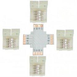 Ecola Комплект соед плата X для зажим разъема + 4 зажима 4-х конт. SMD5050 SC41UXESB