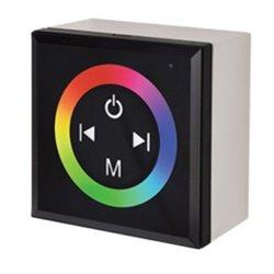 Ecola Контроллер 12V 144W 12A RGB настенный черный с кольцевым сенсором CPB12AESB